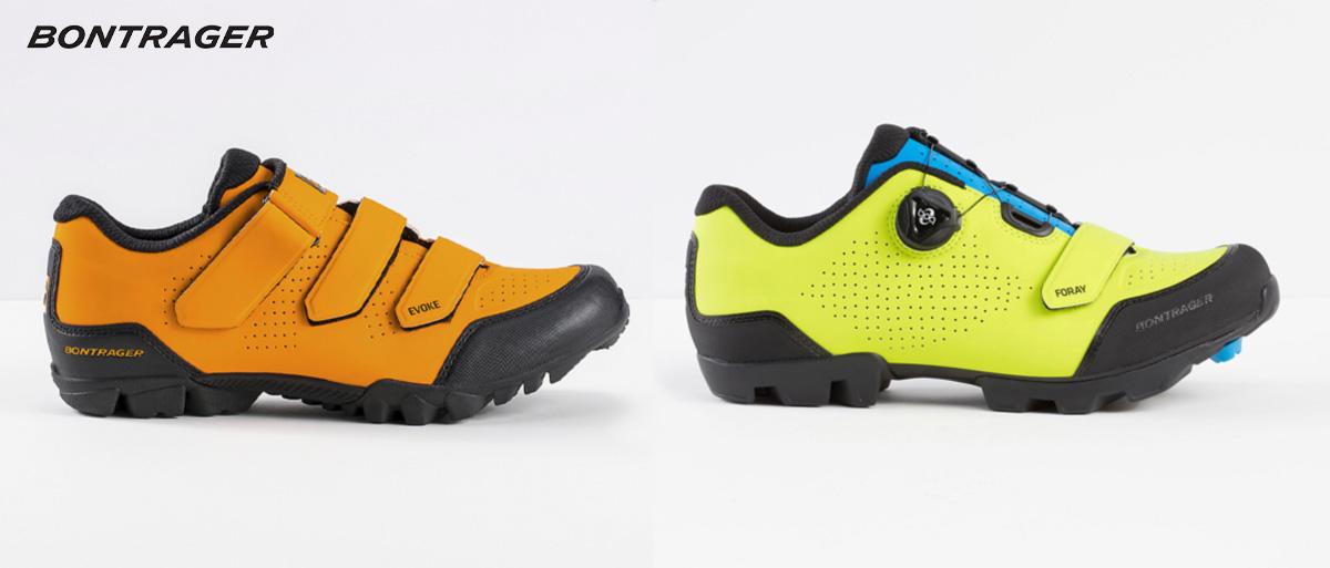 Le nuove scarpe per mtb Bontrager Evoke e Foray 2021 viste lateralmente