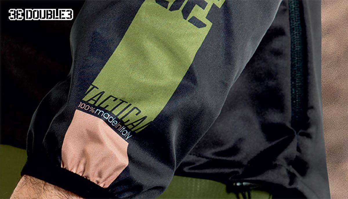 Uno scatto dei copri spalle e copri maniche della linea di abbigliamento tecnico mtb Double3