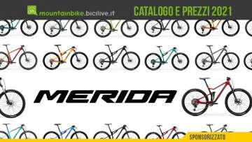 Il catalogo e i prezzi dei nuovi modelli mtb Merida 2021