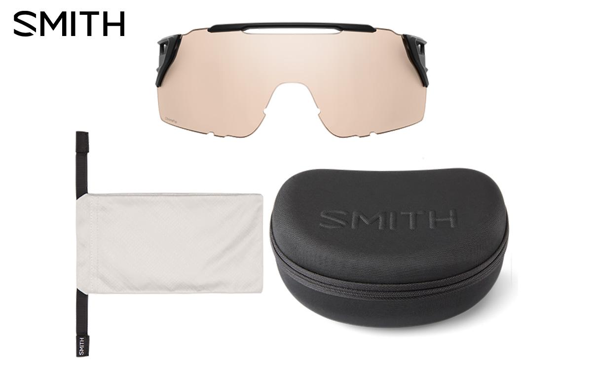 Il kit dei nuovi occhiali per mtb Smith Attack Mag Mtb 2021 completo di astuccio e custodia
