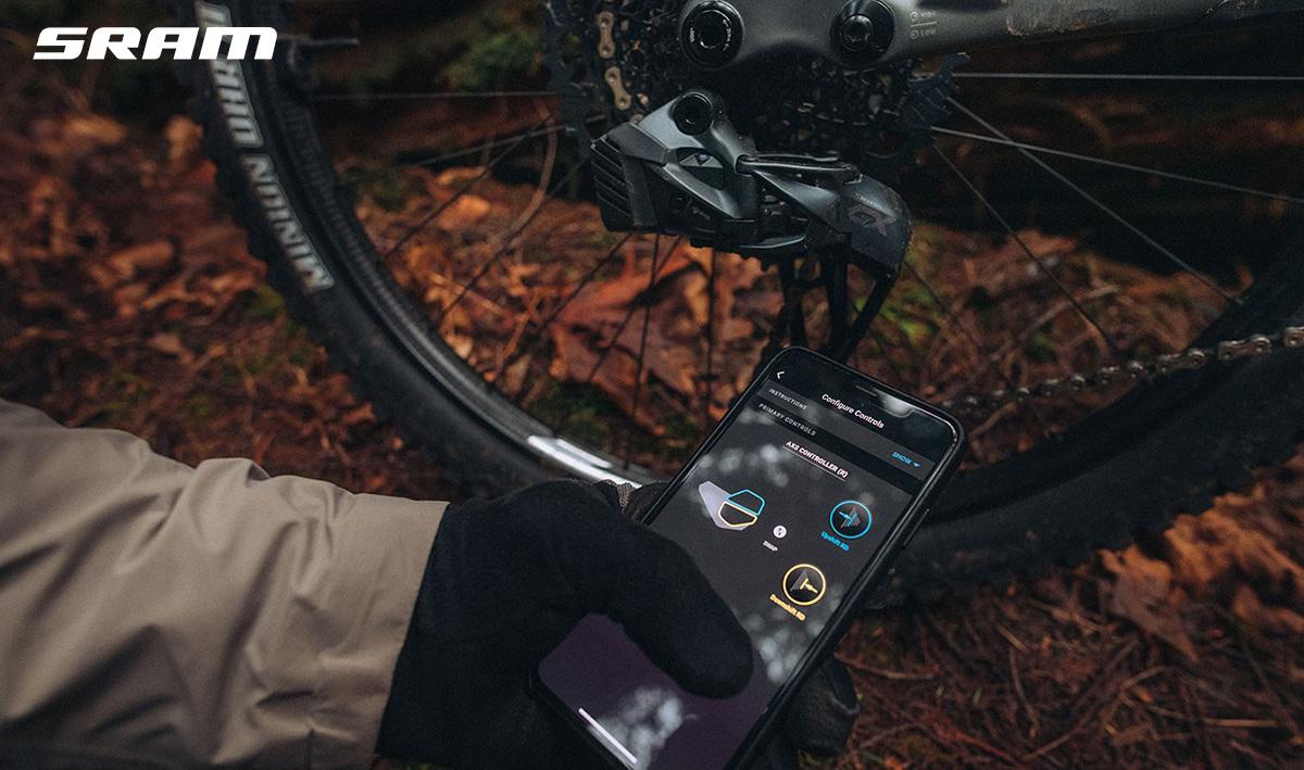 L'app per il settaggio remoto del nuovo cambio wireless per mountainbike Sram GX Eagle AXS 2021