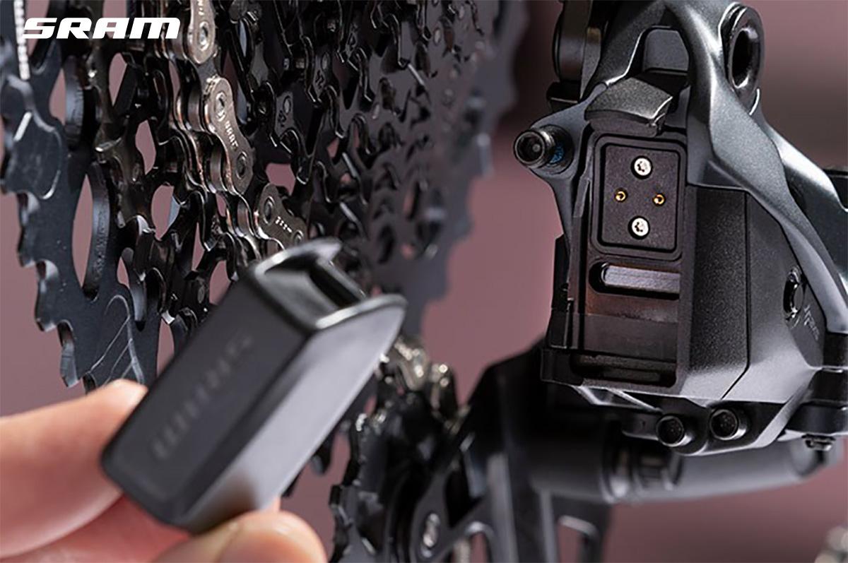 La batteria del nuovo cambio wireless per mountainbike Sram GX Eagle AXS 2021