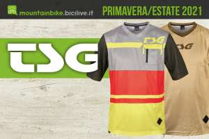La collezione primavera/estate 2021 dell'abbigliamento tecnico per mountainbike TSG