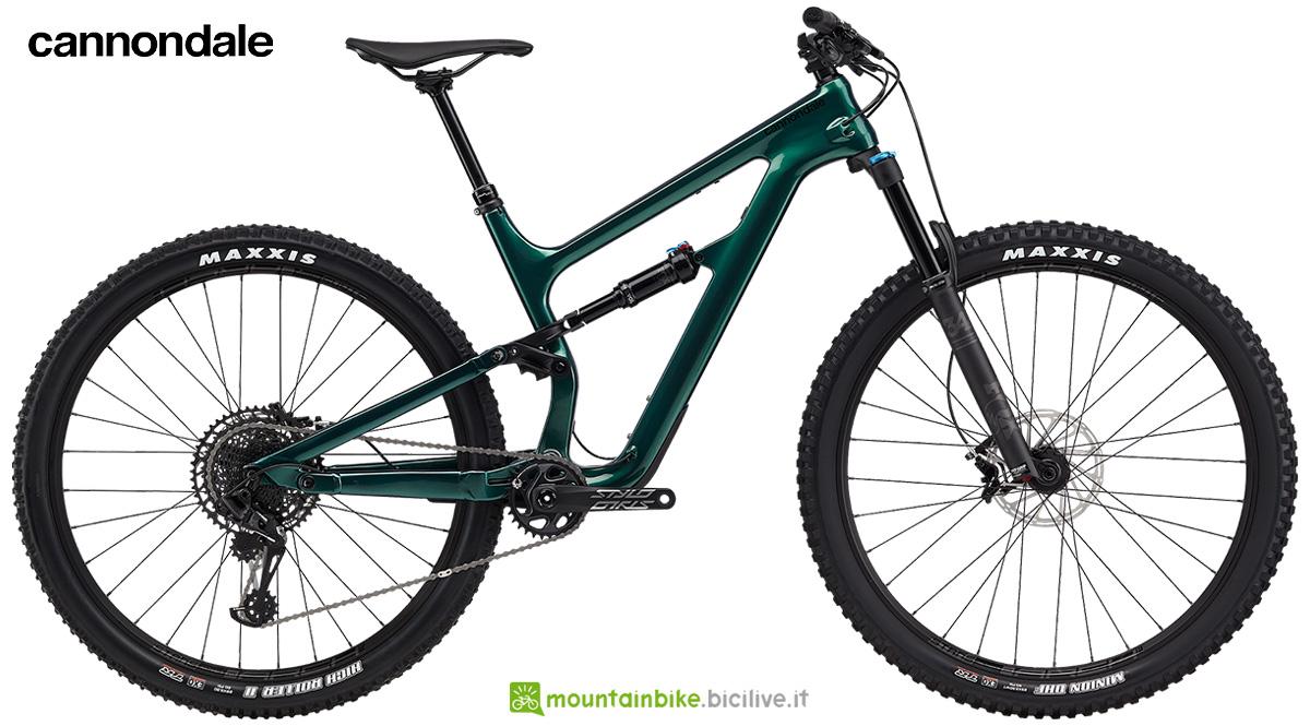 La nuova mountainbike full-suspended Cannondale Habit Carbon 3 2021