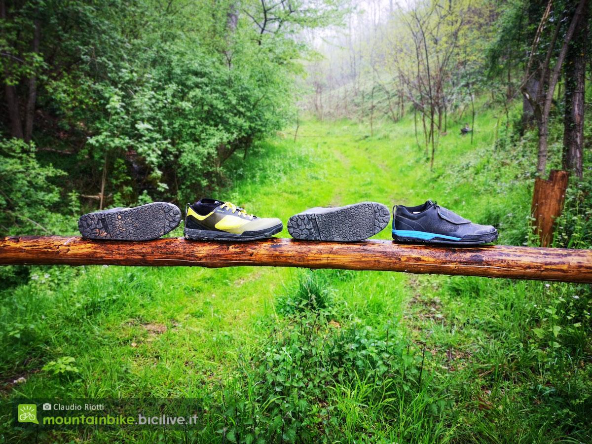 Foto delle scarpe Shimano GR7 e GR9 tutte assieme