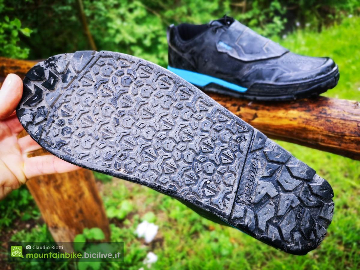 Foto della suola della scarpa MTB Shimano GR9