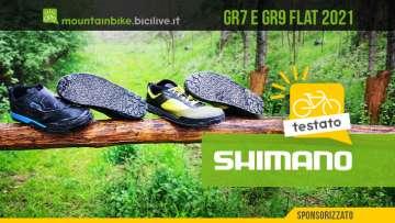 Foto delle scarpe flat Shimano GR7 e GR9