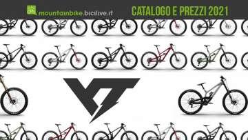 Il catalogo e listino prezzi delle nuove mountainbike YT 2021