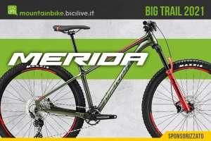 La nuova linea di mtb front suspended Merida Big Trail 2021