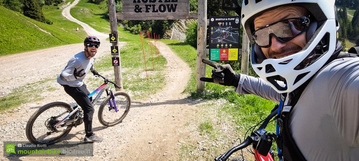 Foto di Claudio Riotti e Sergio Viganò al bike park paganella ad Andalo