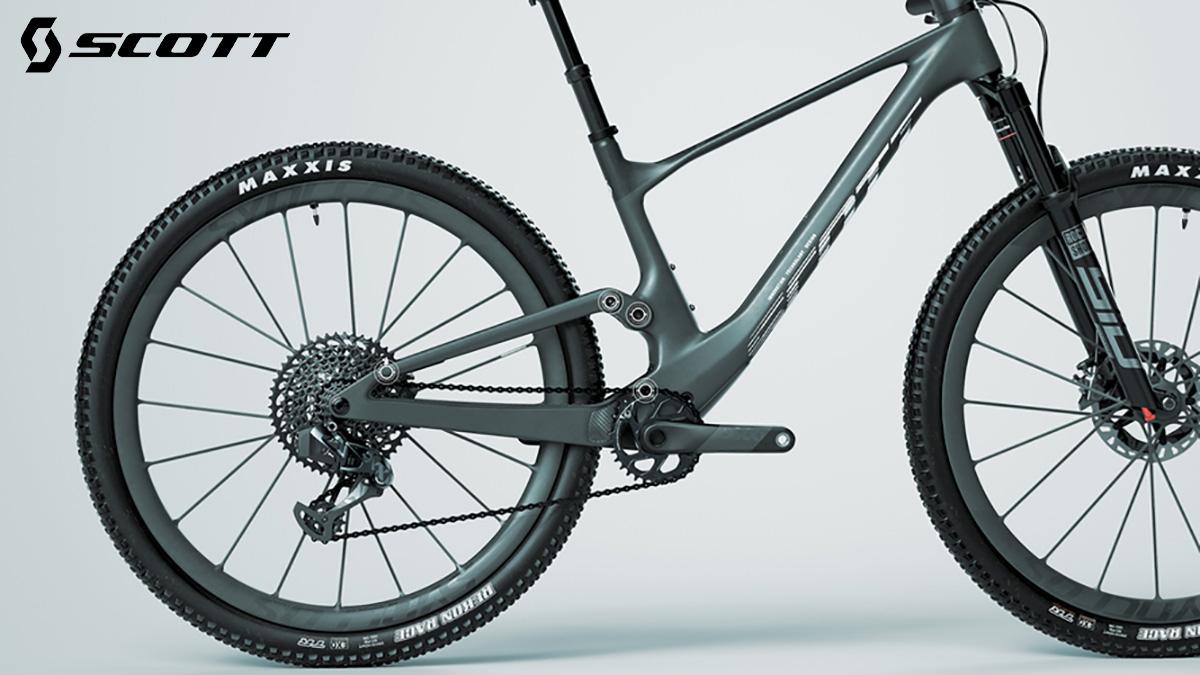 Dettaglio posteriore del telaio delle nuove mountainbike Scott Spark 2022