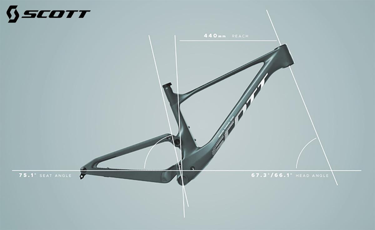 Dettaglio del telaio delle nuove mountainbike Scott Spark 2022