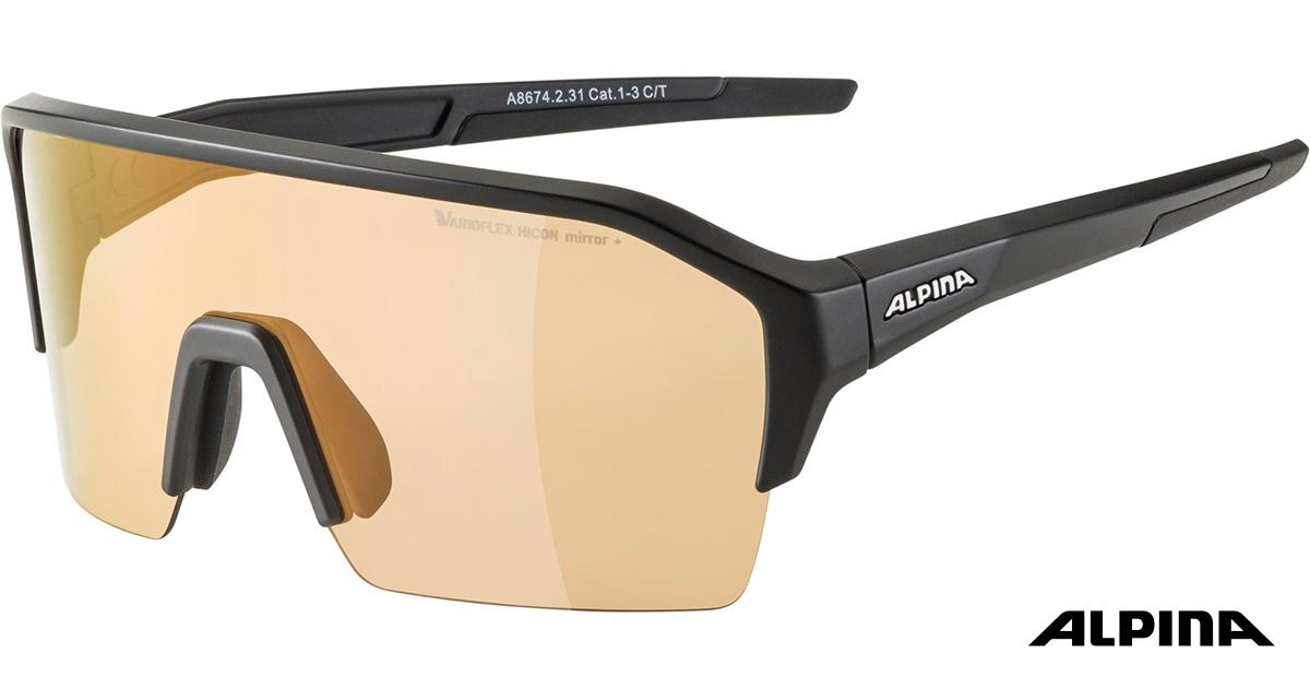 I nuovi occhiali per mtb enduro Alpina RAM Q Lite V 2021 visti di trequarti