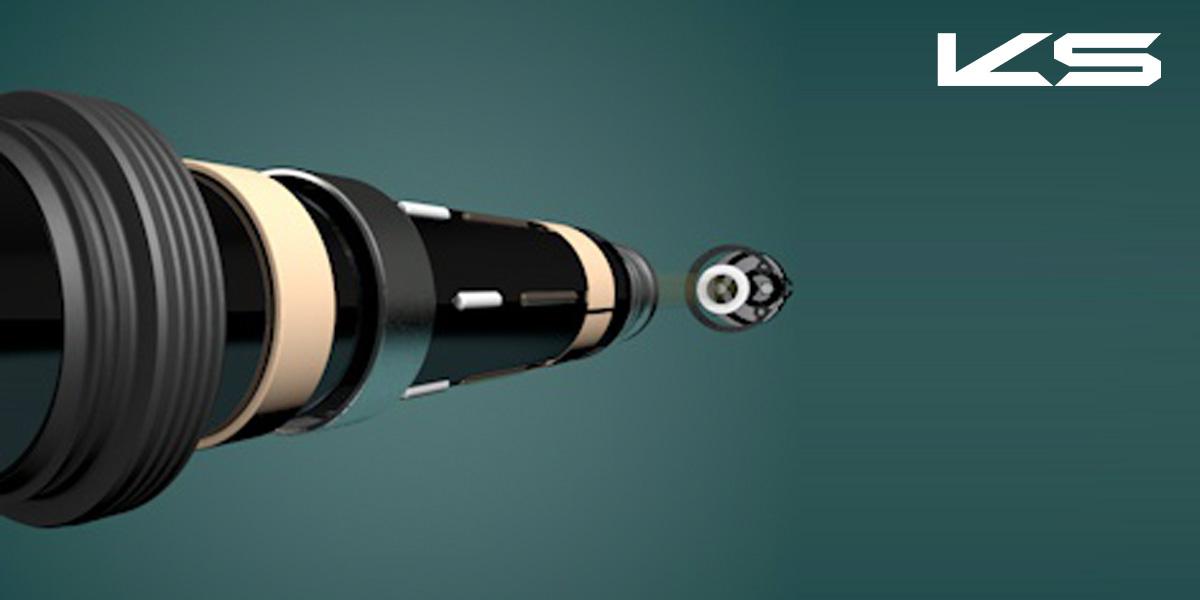 Dettaglio delle componenti interne del nuovo reggisela telescopico per mtb KS Lev Integra 2021