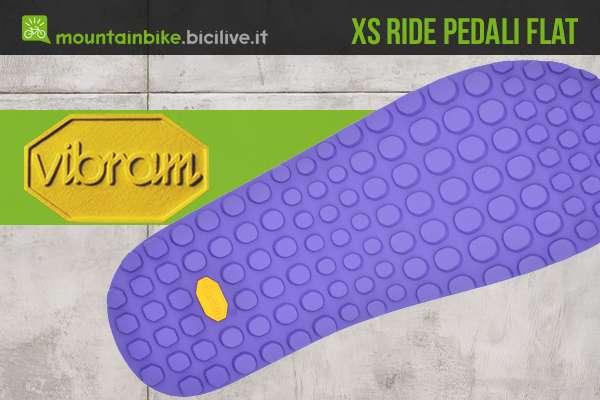 La nuova suola Vibram XS Ride per pedali flat mtb