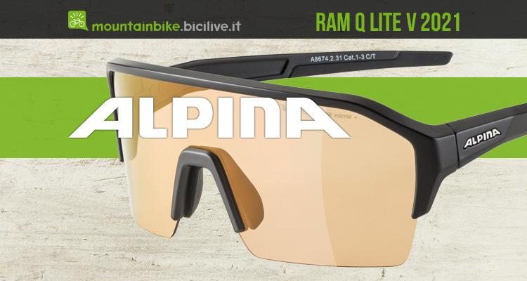I nuovi occhiali per mtb Alpina Ram Q Lite V 2021