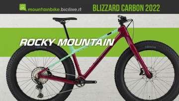 La nuova mtb Rocky Mountain Blizzard Carbon 2022 con ruote fat
