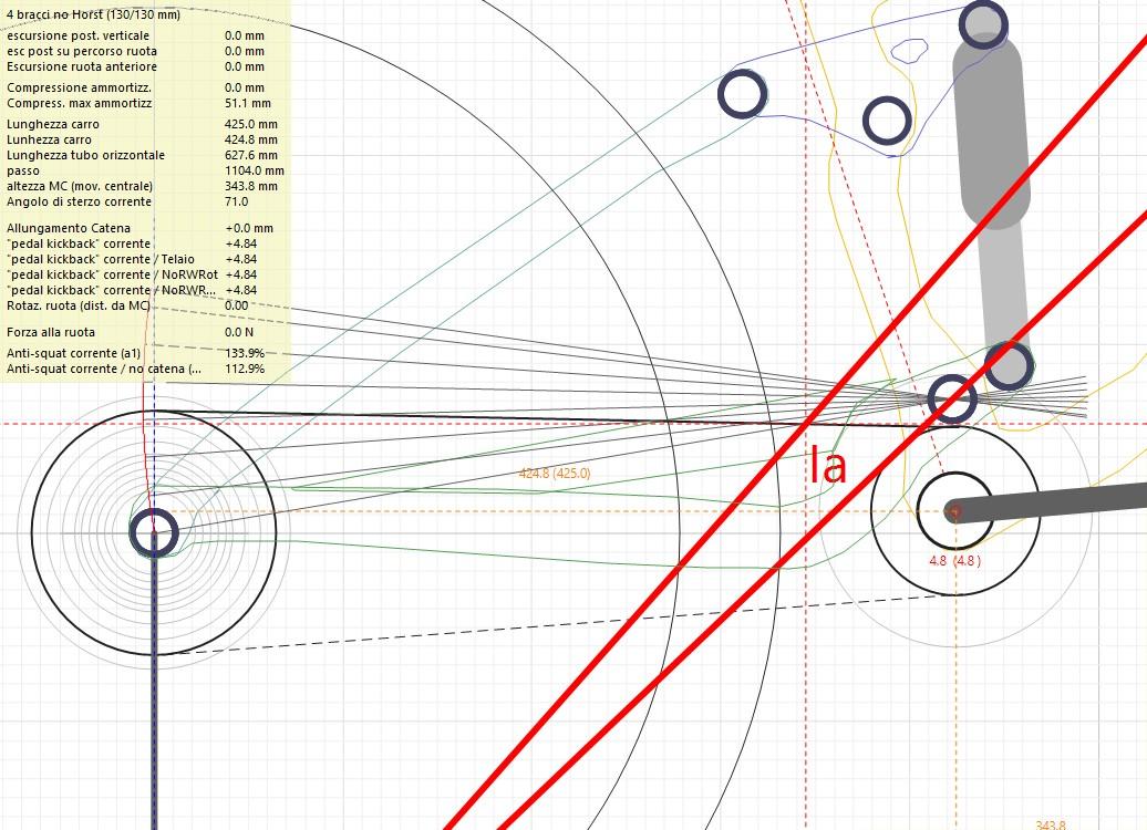 foto dello schema ammortizzante della Trek Fuel EX 7 2013